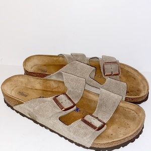 Birkenstock Made in Germany tan leather sandals 42